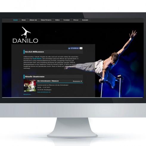 Webseite von DaniloHandstand - Referenz Webagentur Berlin