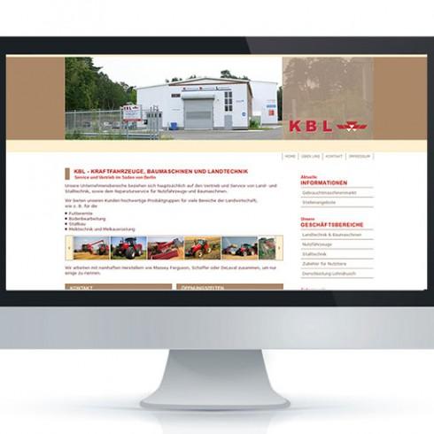 KBL Service und Vertriebs GmbH - Referenz Webagentur Berlin