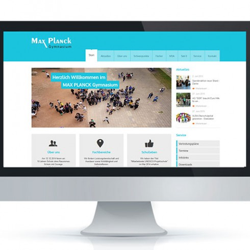 Webseite des MaxPlanckGymnasium - Referenz Webagentur Berlin