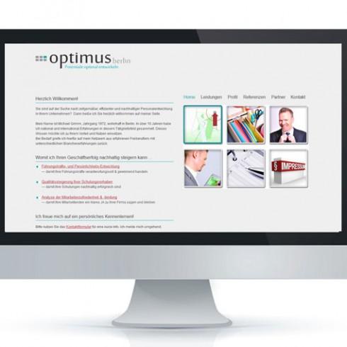 Webseite von Michael Grimm - Referenz Webagentur Berlin