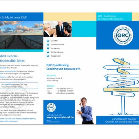 Flyer des QRC-Qualitätsring Coaching und Beratung - Referenz Webagentur Berlin
