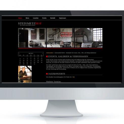 Webseite des Steinmetzhof Berlin - Referenz Webagentur Berlin